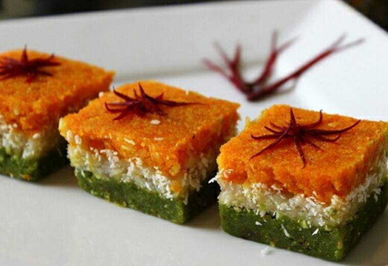 Time for some tricolour barfi. (Source: Yummy Idea App)